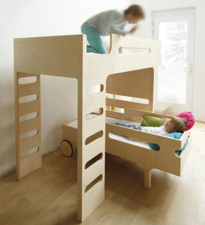 オランダ発・シンプルモダンなデザインの二段ベッド[RAFA kids]   COCOmag