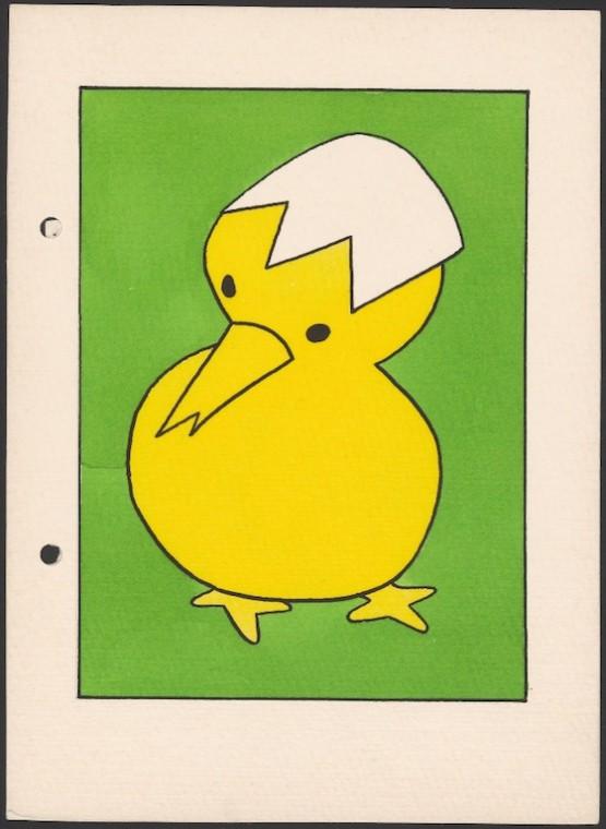『きいろいことり』(未刊行、1953年)原画