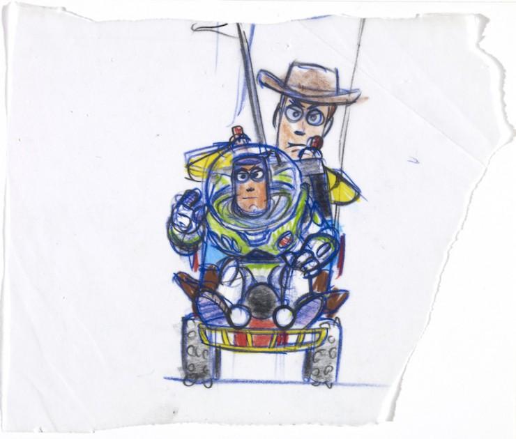 ボブ・ポーリー|≪ウッディとバズ≫|『トイ・ストーリー』(1995年)|複製(マーカー、鉛筆/紙)|©Disney/Pixar