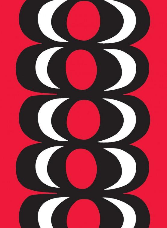 ファブリック≪カイヴォ≫(泉)、図案デザイン:マイヤ・イソラ、1964年 Kaivo pattern designed for Marimekko by Maija Isola in 1964