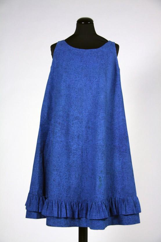 ジャクリーン・ケネディが購入したドレス≪ヘイルヘルマ≫、1959年 ファブリック≪ナスティ≫(小さな無頭釘)、1957年、服飾・図案デザイン:ヴオッコ・ヌルメスニエミ Design Museum / Harry Kivilinna