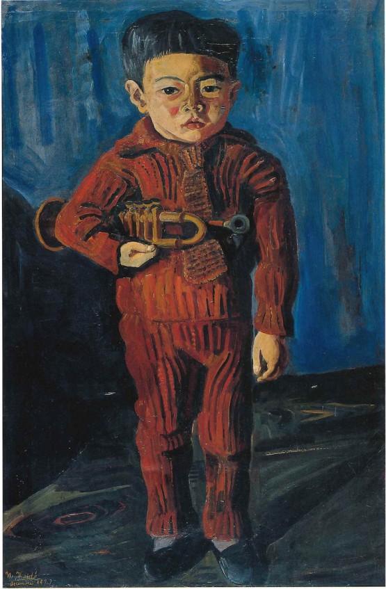 小出楢重 《ラッパを持てる少年》 1923年 東京国立近代美術館蔵