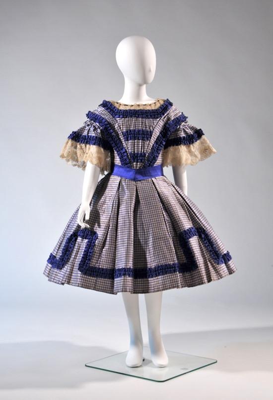 少女用ワンピース・ドレス 1850年代末期‐1860年代 藤田真理子氏蔵
