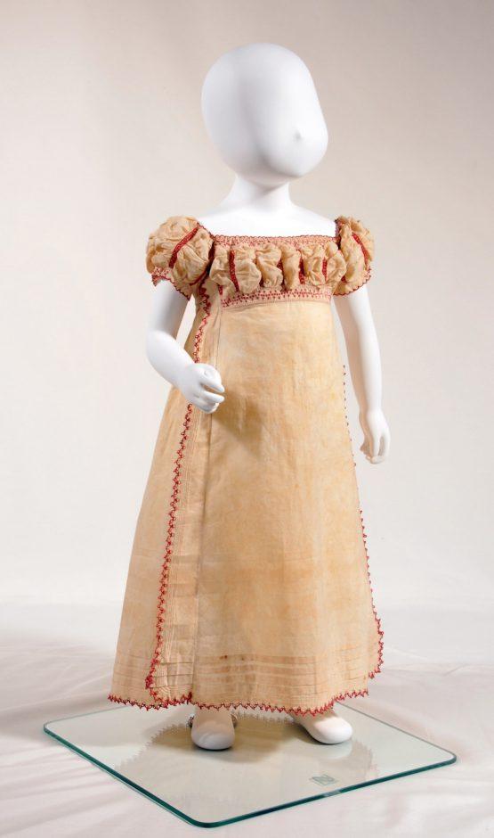 女児用ワンピース・ドレス 1810年頃 英国製 安藤禧枝氏蔵