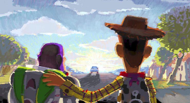 ロバート・コンドウ(レイアウト:ジェイソン・カッツ、ジョン・サンフォード)《ビートボード:さよなら、アンディ》 『トイ・ストーリー3』(2010年)デジタルペインティング ©Disney/Pixar