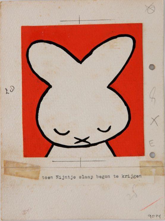 『ちいさなうさこちゃん』(第1版、1955年)原画